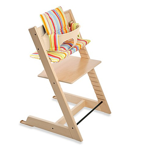 stokke tripp trapp high chair cushion in art stripe bed bath beyond. Black Bedroom Furniture Sets. Home Design Ideas