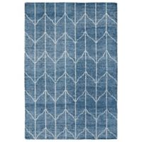 Kaleen Solitaire Wavelength 8-Foot x 11-Foot Area Rug in Denim