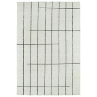 Kaleen Solitaire Urban Loft 4-Foot x 6-Foot Area Rug in Ivory