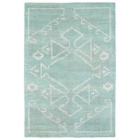Kaleen Solitaire 4-Foot x 6-Foot Navajo Accent Rug in Mint