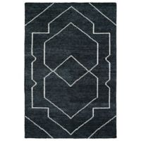 Kaleen Solitaire Shapes 8-Foot x 11-Foot Rug in Charcoal