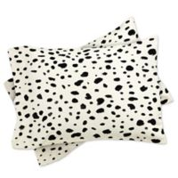 DENY Designs Rebecca Allen Miss Monroes Dalmatian King Pillow Shams (Set of 2)