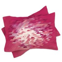 DENY Designs Deniz Ercelebi Cluster 3 Standard Pillow Shams in Pink (Set of 2)