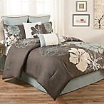 Terra Floral Queen 8-Piece Comforter Set in Blue/Grey