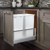 Rev-A-Shelf® Double 35 qt. Pullout Waste Container in Brushed Nickel