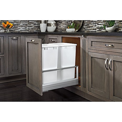 Buy Rev A Shelf 174 Double 27 Qt Pullout Waste Container In
