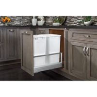 Rev-A-Shelf® Double 27 qt. Pullout Waste Container in Brushed Nickel
