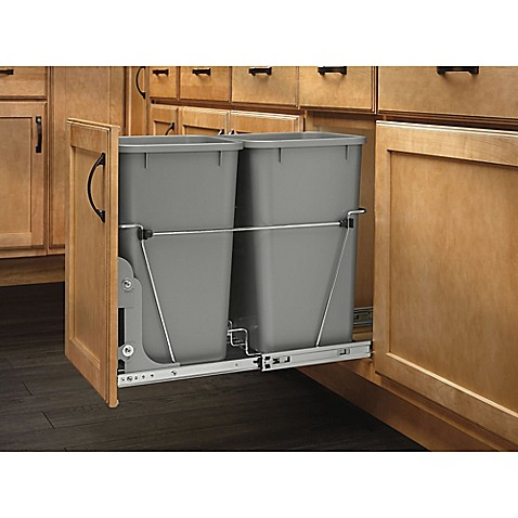 buy rev a shelf double pull out 27 qt waste containers. Black Bedroom Furniture Sets. Home Design Ideas