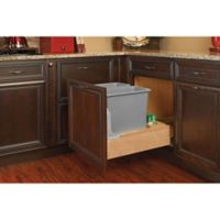 Rev-A-Shelf® Wood Double 30 qt. Pull-Out Waste Containers with Rev-A-Motion Slides in Natural