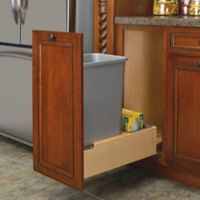 Rev-A-Shelf® Wood Pull-Out Bottom Waste Containers in Natural
