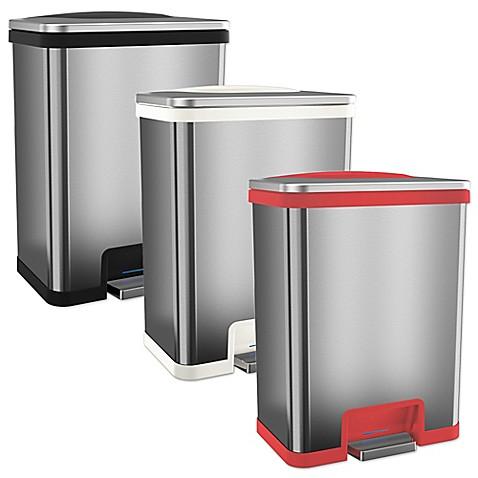 halo tapcan effortless stainless steel 49 liter trash can bed bath beyond. Black Bedroom Furniture Sets. Home Design Ideas