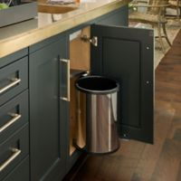 Rev-A-Shelf® 14- Liter Pivot Out Waste Container in Stainless Steel