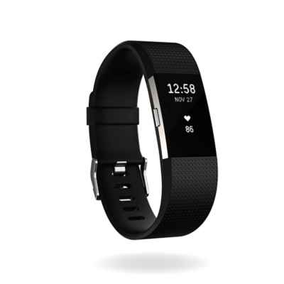 Fitbit® Charge 2™ Wireless Activity Wristband in Black/Silver
