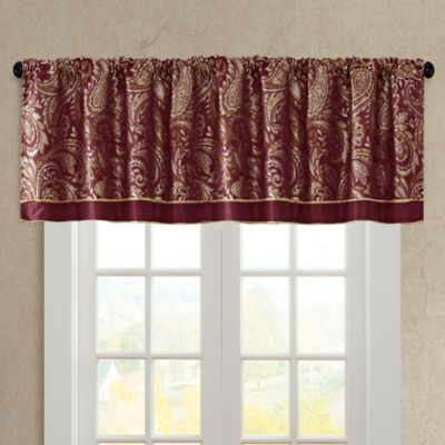 Buy Burgundy Valance from Bed Bath & Beyond