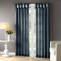 Madison Park Emilia 84-Inch Room-Darkening Tab Top Window Curtain Panel in Teal
