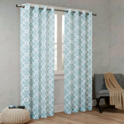 Amazing Urban Habitat Clover 63 Inch Grommet Top Window Curtain Panel In Aqua