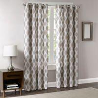 Madison Park Stella 84-Inch Room-Darkening Grommet Top Window Curtain Panel in Bronze