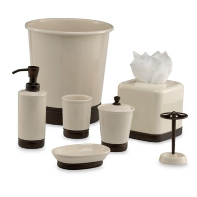 Buy rubbed bronze bathroom accessories from bed bath beyond for Bathroom accessories stand