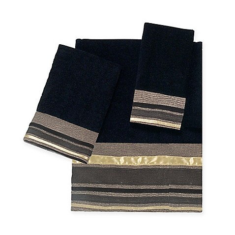 Avanti Geneva Bath Towel Collection In Black Bed Bath