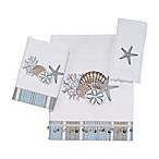 Avanti By The Sea Fingertip Towel in White