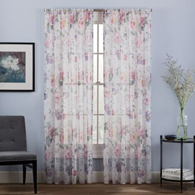 Cosette Sheer 63 Inch Window Curtain Panel