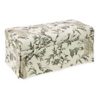 Skyline Furniture Ellisburg Skirted Storage Bench in Winter
