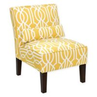 Skyline Furniture Helena Armless Chair in Deco Barley