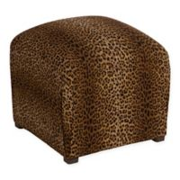 Skyline Sheridan Ottoman in Cheetah Earth