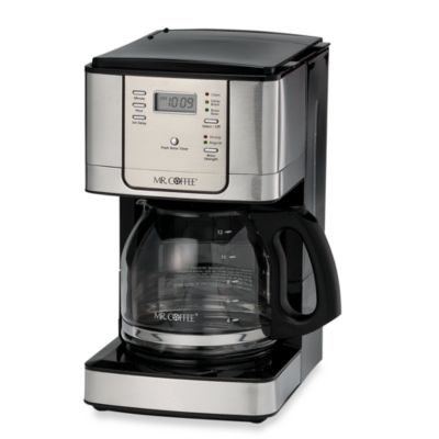 Single Coffee Maker Bed Bath And Beyond : Mr. Coffee JWX Series 12-Cup Programmable Stainless Steel Coffee Maker - Bed Bath & Beyond