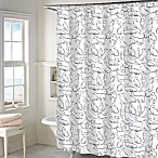 Cats Shower Curtain in White