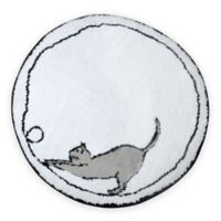 Cats Bath Rug in White