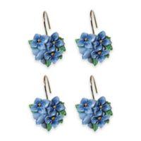 Blue Floral Garden Shower Hooks