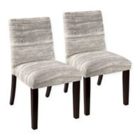 Skyline Furniture Harlow Tapered Dining Chair in Feather (Set of 2)
