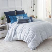Under the Canopy® Shibori Chic Twin Duvet Cover Set in Blue