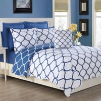 Fiesta® Villa Reversible Full/Queen Quilt Set in Lapis