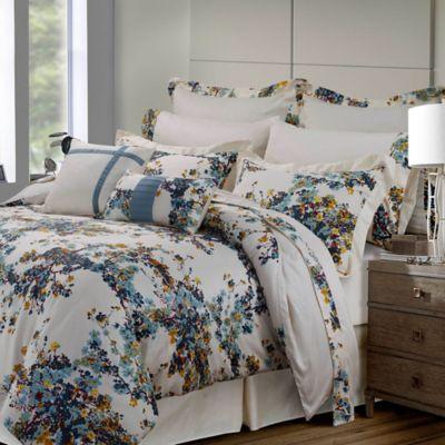 tribeca living casablanca 12piece king comforter set in bluegold - Tribeca Bedroom Set