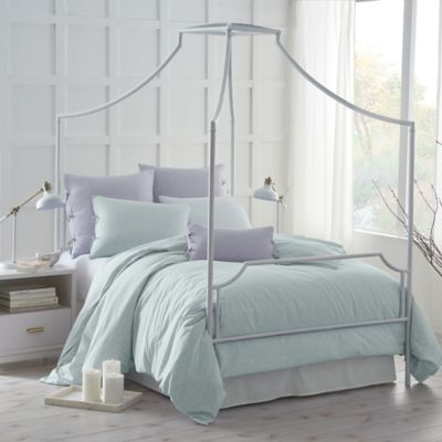 Under the Canopy® Urban Edgelands Organic Cotton Twin Duvet Cover Set in Sea Glass : twin bed canopy cover - memphite.com