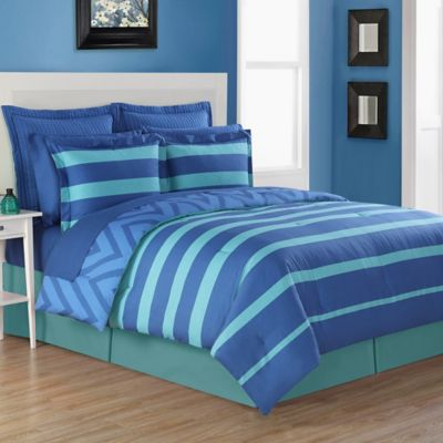 Fiesta® Biscay Reversible Twin Comforter Set In Blue/Turquoise