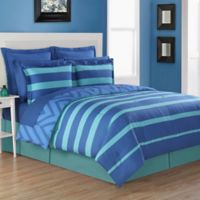 Fiesta® Biscay Reversible King Comforter Set in Blue/Turquoise