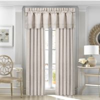 J. Queen New York™ Wilmington 84-Inch Rod Pocket Window Curtain Panel Pair in Alabaster