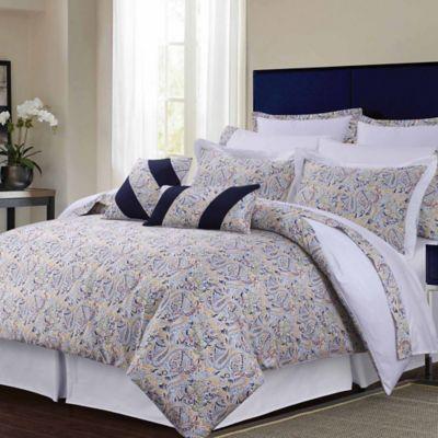 tribeca living fiji 12piece queen comforter set in navy - Tribeca Bedroom Set