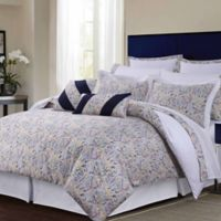 Tribeca Living Fiji 12-Piece Full Comforter Set in Navy