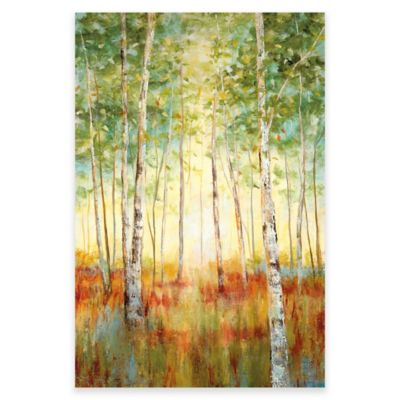 buy canvas wall art trees from bed bath & beyond