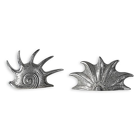 image of Uttermost Marine Mollusc Sculpture in Silver (Set of 2)
