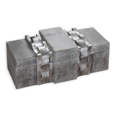 uttermost pietro concrete box - Decorative Boxes With Lids