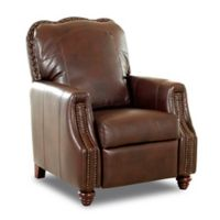 Klaussner Gabby High Leg Recliner in Walnut