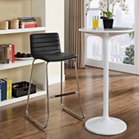 Modway Dive Vinyl Bar Stool in Black