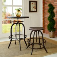Modway Collect Wood Top Bar Stool in Brown