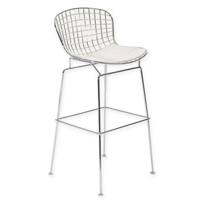 Modway CAD Wire Bar Stool in White  sc 1 st  Bed Bath u0026 Beyond & Buy White Plastic Stool from Bed Bath u0026 Beyond islam-shia.org