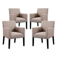 Modway Chloe Armchairs in Beige (Set of 4)